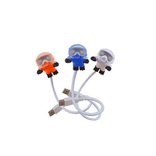 [해외]USB 다이버 독서 빛 귀여운 스쿠버 다이버 가변 와이어 LED 키즈 램프/USB Diver Reading Light Cute Scuba Diver Adjustable wire LED kids lamp