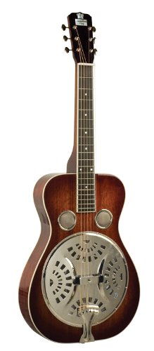 Recording King Roundneck Resonator Guitar, Mahogany, Vintage Sunburst by Recording King