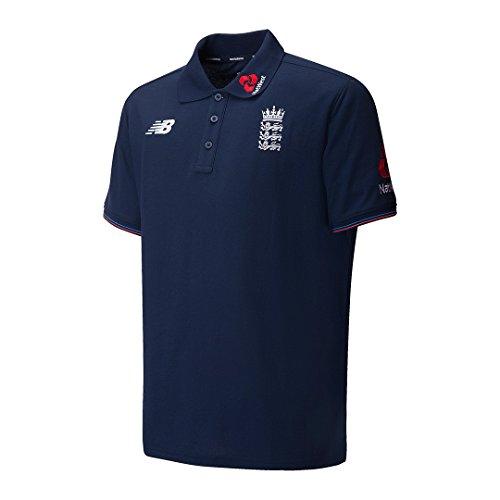 New Balance England Cricket Training Media Polo Shirt - Pigment - Large