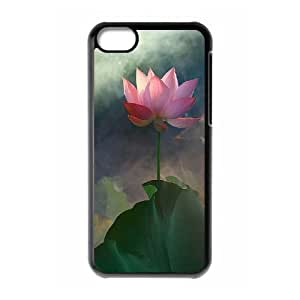 linJUN FENGProtection Cover Hard Case Of Water Lily Cell phone Case For iphone 5/5s