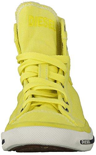 Diesel Damen Sneakers Chukka Boots Exposure IV W Gelb (Green Sheen T3016)