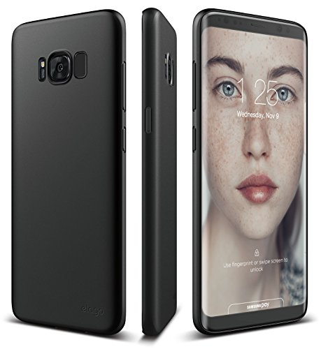 elago Galaxy S8 Case [Origin][Black] - [Device Fitting Tested][Minimalistic][Scratch Protection Only][True Fit] - for Galaxy S8