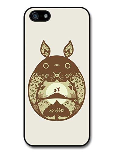 My Neighbour Totoro Hayao Miyazaki Brown Minimalist Illustration coque pour iPhone 5 5S