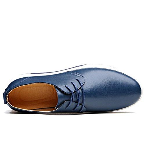 Oxford Blu Vintage LILY999 Stringate Scarpe Basse Eleganti Brogue Uomo Derby 4gxqIwAO