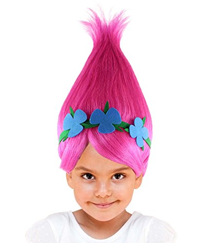 [Princess Troll Wig, Pink Kids HW-1079] (Different Princess Costumes)