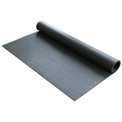 "Rubber-Cal Rubber Anti-Vibration Mat - 1/4"" x 4ft Wide x 4ft Long - Black Washing Machine Vibration Mat"