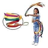 Rainbow Dance Ribbons, LANREN 12PCS Rhythm Ribbon