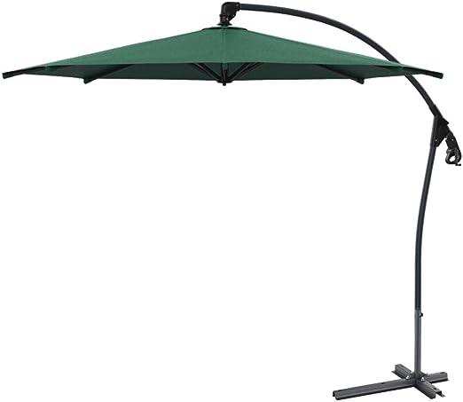 Parasol Sombrilla Ø 300 cm, Excéntrico de Jardín de para Terraza Jardín Patio Ajustable Protección UV 50+: Amazon.es: Jardín