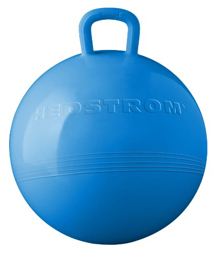 Hedstrom Red Striped Hopper Ball Kid\'s ride on toy Bouncy hopping ball with handle 15 Inch