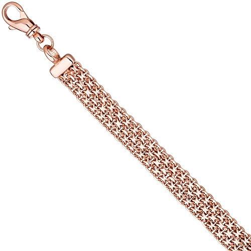 12,8mm Bracelet Large Argent Bracelet Bracelet Chaîne Argent 925plaqué or rouge 20cm