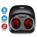 HOHLTH Tapping Foot Massager Shiatsu Air Pressure Foot Massager Machine with Heat- Immersive 3D Foot Reflexology Therapy for Plantar Fasciitis Pain Relief