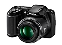 Nikon Coolpix L340 20.2 MP Digital Camera with 8GB memory card bundle (28x Optical Zoom, 3.0-Inch LCD, 720P Video, Black, US model) from Nikon