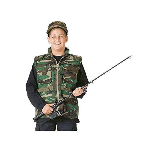 Rothco Kids Ranger Vest - Woodland Camo, Medium - Camo Ranger Vest