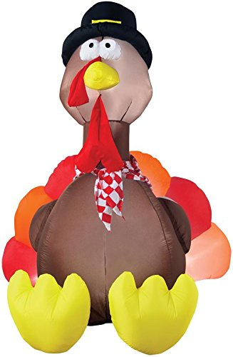 Gemmy Airblown Inflatable Original Turkey - Indoor Outdoor Holiday Decoration, 6-foot Tall]()