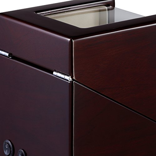 OLYMBROS Wooden Single Automatic Watch Winder Storage Box for 2 Watches with LED Light by Olymbros (Image #6)