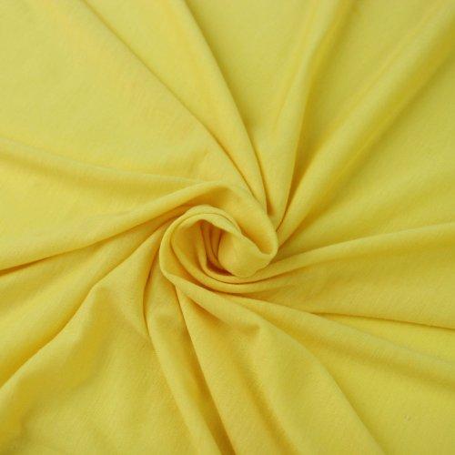 Yellow Poly Rayon Spandex Stretch Jersey Knit Fabric By the Yard - 1 Yard