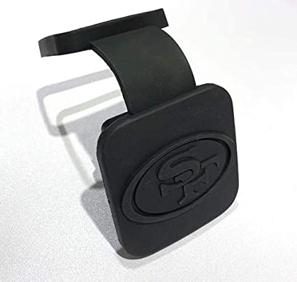 2 Inch Fit San Francisco 49ers Trailer Hitch Tube Cover Plug Cap,Rubber Receiver Tube Hitch Plug,Trailer Hitch Cover,for Jeep Toyota Honda Mustang GMC Dodge RAM Fit 49ers