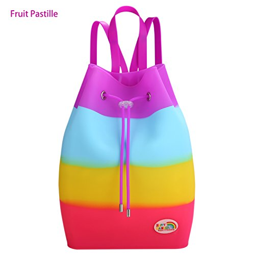 Easy Silicone Sundae Coloured Scented Clean Surprise School Girls Frutti Backpack Happy Tutti Waterproof Multi Bag Occasional Bag Rainbow SXq11z
