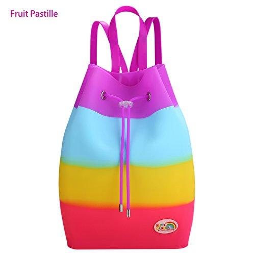 Large Multicolor Tutti Mujer Para Happy Mochila Bolso Rainbow frutti Xfn48v