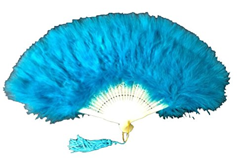 [Feather Hand Fan for Costume Party Dance Lot of 5 (Peacock)] (Dance Fans Costumes Accessories)