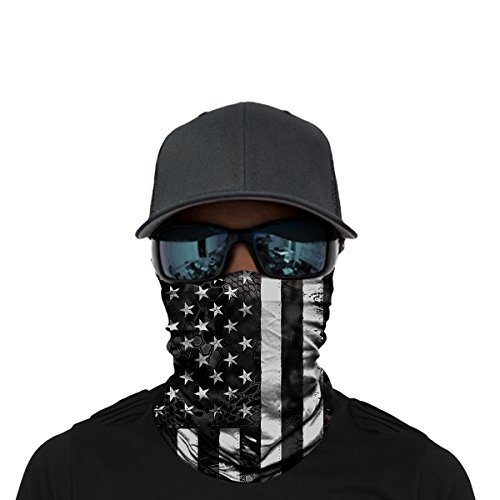 OUYZY Neck Gaiter, Headwear, Face Sun Mask, Magic Scarf, Bandana, Balaclava, Headband Cycling, Fishing, Hunting, Motorcycling, Running, Skateboarding, Moisture Wicking UV Protection