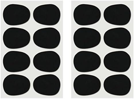 Vizcaya Alto/Tenor Sax Clarinet Mouthpiece Patches Pads Cushions, 0.8mm Black, 16 Piece