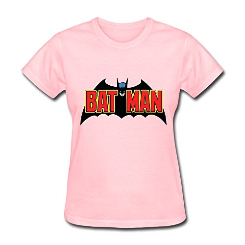 PCY Women's Personalised Custom 70 S Batman Logo By Bean525 D68br7d New Style Tee S Pink