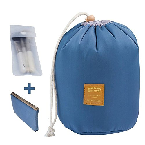 Clothes Travel Luggage Organizer Pouch (Dark Blue) Set of 6 - 9