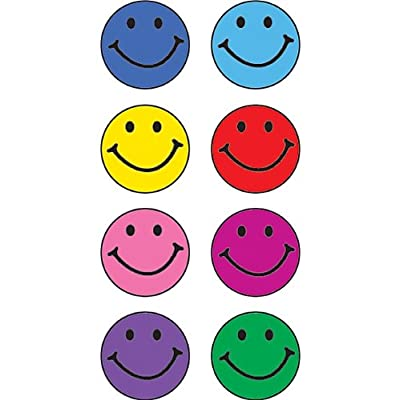 Teacher Created Resources Happy Faces Mini Stickers, Multi Color (1236): Office Products