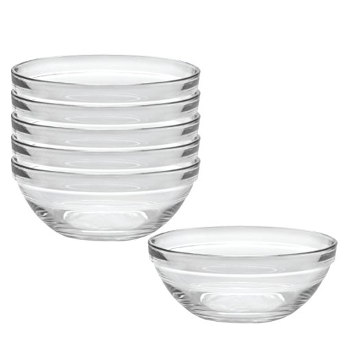 Duralex Made In France Lys 10-1/4-Inch Stackable Clear Bowl, Set of 6
