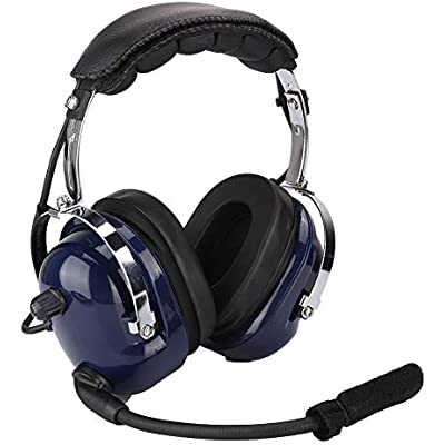 Garsent Aviation Headset  Noise Canceling Over Ear Headphones with Microphone  3 5mm Noise Canceling Headset for Airplane Pilots