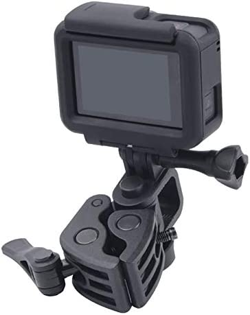 CAOMING Clamp Mount Connecting Adapter Kit with Waterproof Back Cover for GoPro HERO6 //5 Durable Color : Black
