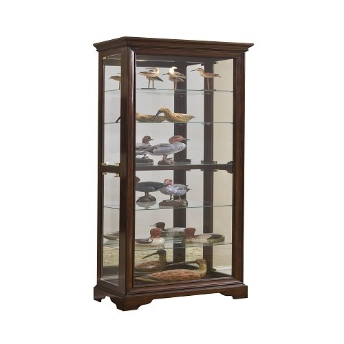 Pulaski Curio, 29 by 15 by 80-Inch, Brown