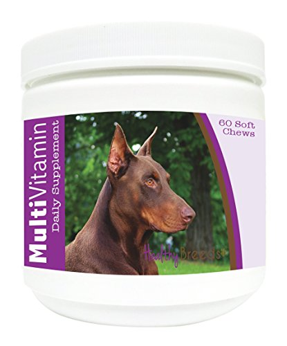 Breeding Doberman Pinschers (Healthy Breeds Dog Multivitamin Soft Chew for Doberman Pinscher - Over 80 Breeds - Daily Vitamin and Mineral Supplement - 60 Count)