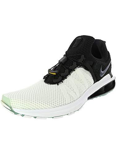 Nike Men's Shox Gravity White/Black/White Nylon Running Shoes 9.5 (D) M US ()