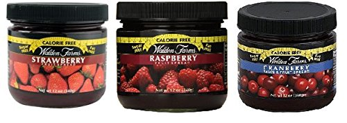 - Walden Farms Strawberry, Cranberry and Raspberry Fruit Spread Pack