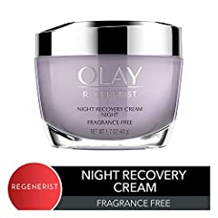 Wake up to intensely moisturized and younger-looking skin with Olay Regenerist Night Recovery Cream, a night cream face moisturizer within Olay's Advanced Anti-Aging Skin Care Collection. Its intense moisture hydrates throughout the night to ...