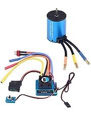 Combo RC Motor ESC, 3660 3300KV / 3800KV Brushless Motor e 120A Brushless ESC RC Combo per 1/8 1/10 RC Car(3300KV Motor+120A ESC)