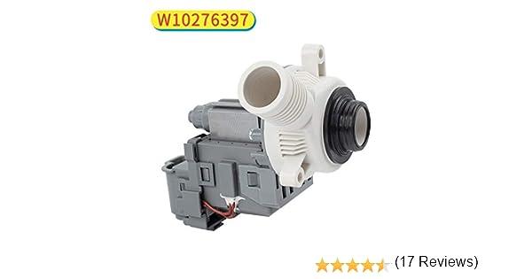 Decora W10276397 Repuesto de bomba de drenaje de lavadora ...