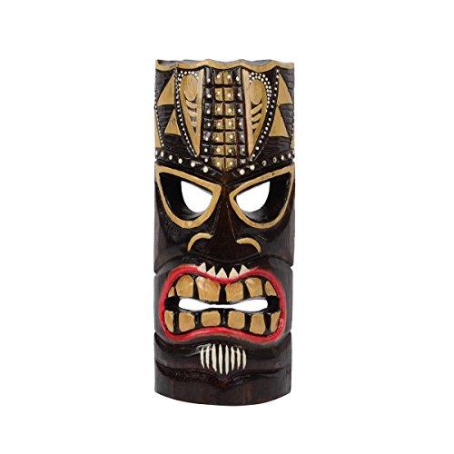 TG,LLC 3D Tiki Head Protector Mask Wall Hanging Wood Totem Statue