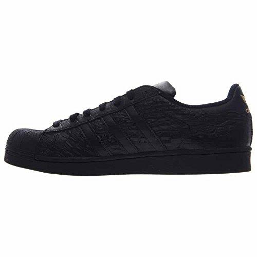 Adidas Originaux Hommes Superstar Mode Sneaker Cblack, Cblack, Goldmt-aq6685
