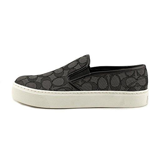 Coach Vrouwen Cameron Laag Top Slip Op De Mode Sneakers Rook Steenkool Nappa / Zwart Sig C