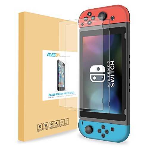 pleson-tempered-glass-screen-protector-for-nintendo-switch-2017-2-pack-switch-screen-protector-glass