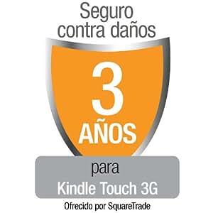 Seguro contra daños de SquareTrade para Kindle Touch 3G, para clientes residentes en España