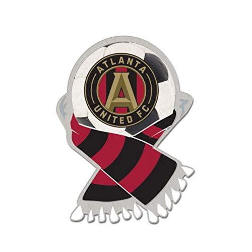 Wincraft Atlanta United FC MLS Red & Black Soccer Scarf Metal Lapel Pin ()