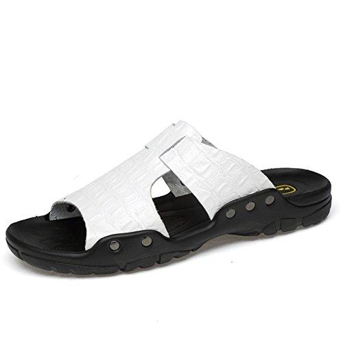 spiaggia Dimensione Traspiranti 1 3 da Colore 39 Bianca pantofole Pantofole Uomo EU Scarpe Pantofole Da Traspiranti Pantofole Wagsiyi Marrone gvFOtxqw
