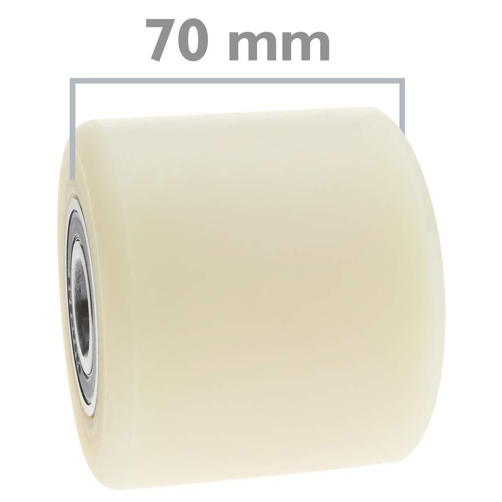 PrimeMatik - Rueda para transpaleta Rodillo de Nailon de 80x70 mm 700 Kg 4-Pack: Amazon.es: Electrónica