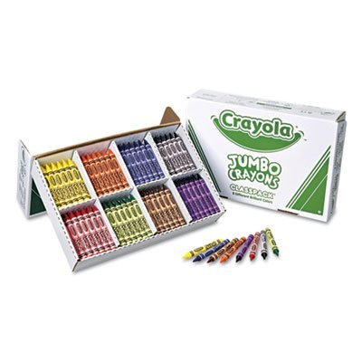 (Crayola Products - Crayola - Jumbo Classpack Crayons, 25 Each of 8 Colors, 200/Box - Sold As 1 Set - Large crayons are easier for small hands to grasp and control. - Classpack provides multiple crayon sets for classroom and group use. - Sturdy, compartmentalized Classpack packaging provides a convenient, reusable storage unit. - Ideal for teaching color mixing. -)
