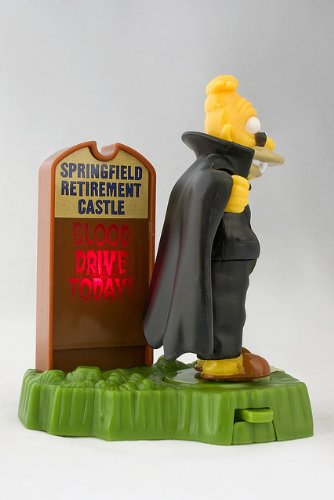 Burger King Grandpa Abe Simpson Collectible Vampire Figure 3.75