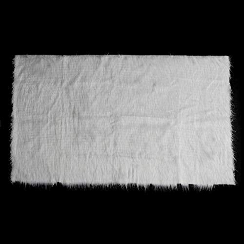 White Shaggy Fur Fabric Long Pile Fur Costumes Photographic Backdrops Prop - Photography & Camera Acc Studio Equipments- 1 x Fur Fabric Photography Prop